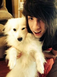 Jordan Sweeto and one of his puppies!! So cute!!!