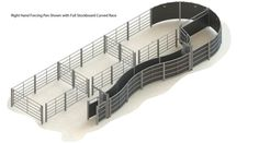0000 63 – 004 – cattle handling system RH curved race full stockboard without crush Cattle Farming, Livestock, Cattle Corrals, Pen Designs, Camp Axe, Beef Cattle, Ranch Life, Agriculture, Barn