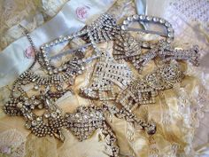 I just love shiny glittery vintage bling!!! | via Flickr from sandra blanks