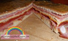 Delicious Meat baked into the bread sandwich. Sandwiches, Meat, Baking, Breakfast, Food, Rainbows, Baking Center, Recipes, Ideas