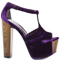 Dany Shoe - Plum Velvet by Jessica Simpson