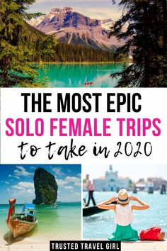 The Most Epic Solo Female Trips to take in The Best Solo Female Travel Destinations in My favorite places for women to travel alone. Check out this list of destinations around the world to…More Best Solo Travel Destinations, Solo Travel Tips, Best Places To Travel, Travel Aesthetic, Travel Alone, Beach Trip, Beach Travel, Girl Travel, Travel Photography