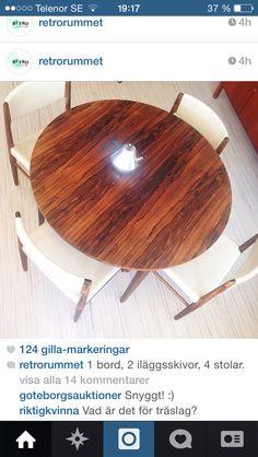 Såå fint!!! Vita stolar tål å funderas på bara.. Bilden är tagen från @Retrorummet på instagram.