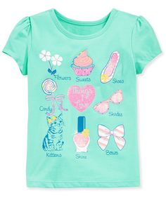 Epic Threads Little Girls' Mix & Match Graphic Tee - Kids - Macy's