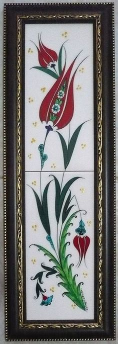 Çini pano Fabric Painting Tutorial: Within this tutorial we'll explain to you how to use Country Chi China Painting, Ceramic Painting, Fabric Painting, Turkish Art, Turkish Tiles, Portuguese Tiles, Moroccan Tiles, Islamic Tiles, Islamic Art