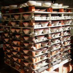 #stoneware #kiln just before the firing.  Website: www.khmerceramics.com Ceramic Art, Stoneware, Centre, Ceramics, Fine Art, Website, Ceramica, Pottery, Visual Arts