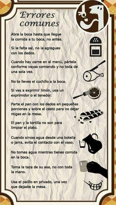 Normas de etiqueta en la mesa Good Manners, Table Manners, Cena Formal, Dining Etiquette, Etiquette And Manners, Spanish Words, Fitness Tattoos, Sunflower Tattoo Design, Homemade Beauty Products