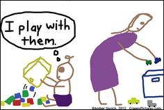 Why you can't clean up with a toddler around (click on the link and you can see the rest of the comic)