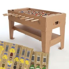 CARDBOARD Kartoni Football Table Brown