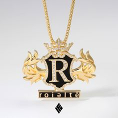 Gold Chain Men Pendants Solid Yellow Gold Roieltē Pendant Partially Iced Out In VS White Diamonds. Specially made for Mom Jewelry, I Love Jewelry, Modern Jewelry, Custom Jewelry, Chain Jewelry, Jewelry Necklaces, Jewellery, Gold Chain With Pendant, Chain Pendants