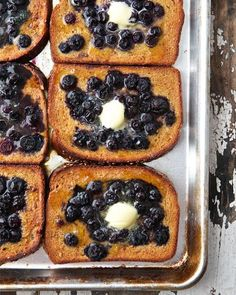 My Happy Dish: Baked Blueberry French Toast from Marla Meridith of Family Fresh Cooking