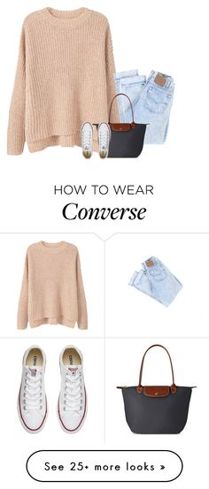 """""""omg srry I haven't been on in forever but BIG NEWS read d"""" by lillynelsonn on Polyvore featuring MANGO, Longchamp and Converse"""