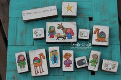 Cute Christmas Nativity Blocks for kids!  Great for Primary or Sunday School...