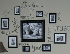 love this idea for a wall. Shelly!!!! I WANT ONE!!!!