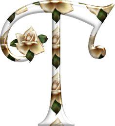 Alfabeto Florido PNG...T