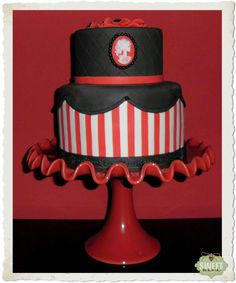 Striped simple Gothic Cake