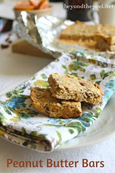 Peanut Butter Bars are quick and easy to make and great for breakfast on the run or a snack..