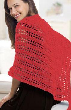 Best Free Crochet » Free True Friend Shawl Crochet Pattern From RedHeart.com #183