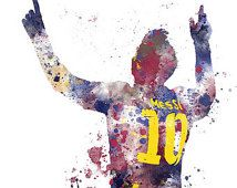 Soccer Mixed Media - Messi by Rebecca Jenkins Leonel Messi, Cr7 Messi, Messi 10, Neymar Jr, Art Football, Soccer Art, Football Cheerleading, Soccer Room, Football Posters