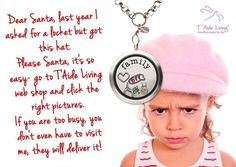 "Dear Santa, last year I asked for a locket but got this hat.  Please Santa, it's so easy- go to T'Aide Living web shop and click the right pictures.  If you are too busy, you don't even have to visit me, they will deliver it!""  #taideliving www.taideliving.com"