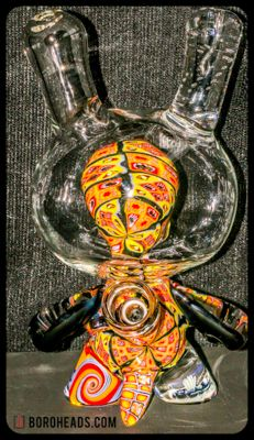 artist: Capt' Crunk,  ONE OF A KIND - Dunny Skull Bunny. Signed.   #capncrunk #roseroads #collab #dunny #crazy #boroheads #hitzimports #416 #905 #710 #420 #highend #highendglassforsale #glassofig #maryjane #dabs #dabz #oil #weed #herbs #freshherbs #glassonglass #skull #bunny #skullbunny #downtownglassgallery #glassgallery #unique #oneofakind #collectables #collegest #glassforsale #functionalglassforsale