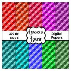 $ #Shell #Pattern #Digital #Papers {8.5 x 11} #Clip #Art CU OK