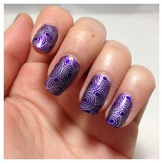 Avalon et le stamping 70's #nails #nailart