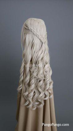 Daenerys Wig | Long Curly Blonde Wig Braids | Game of Thrones Costume Khaleesi Cosplay PungoPungo Daenerys Targaryen | Queen Series