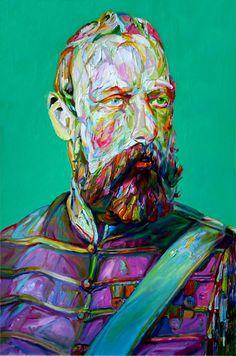 """Aaron Smith, """"Pommie"""", 2012, oil on panel, 48""""x32""""... C'est tout simplement hallucinant!!!"""
