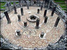 Butrint Baptistery mosaic (pic: Butrint Foundation)