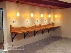 Natural wood countertops - live edge wood slabs | Littlebranch Farm