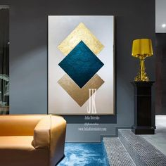 Minimalist Wall ArtGeometric Abstract Canvas ArtTexture painting Extra Large Wall ArtGold Leaf PaintingGlam Wall Decor by Julia Kotenko Geometric Painting, Abstract Canvas Art, Diy Canvas Art, Diy Wall Art, Geometric Art, Large Wall Canvas, Modern Canvas Art, Abstract Paintings, Art Paintings