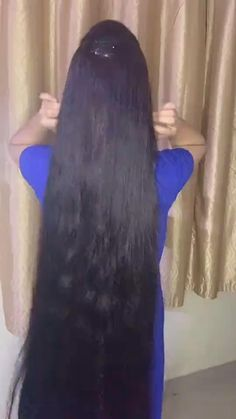 Thick Natural Hair, Long Silky Hair, Long Black Hair, Super Long Hair, Long Hair Indian Girls, Indian Long Hair Braid, Black Hair Video, Long Hair Video, Long Hair Wigs