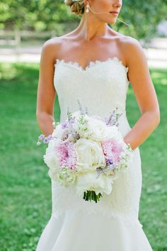 Lavender and white bridal bouquet   Kristyn Hogan Photography   see more on: http://burnettsboards.com/2014/10/lavender-southern-wedding/