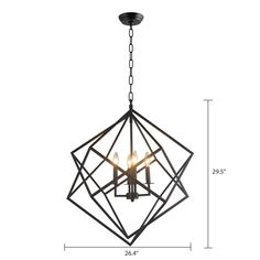 Shop for 4 Light Chandelier in Black finish. Get free delivery On EVERYTHING* Overstock - Your Online Ceiling Lighting Store! Black Chandelier, Chandelier Ceiling Lights, Pendant Chandelier, Cool Chandeliers, Rectangular Chandelier, Kitchen Chandelier, Ceiling Fans, Kitchen Lighting, Black Light Bulbs