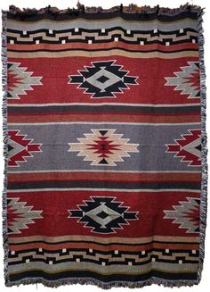 Southwestern Throw Blanket Southwest Tahoe Throw Blanket 48X60 Red St40  Mission Del Rey
