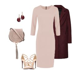 Dress: Tubino Selena, Nude, Polyvore, Image, Fashion, Moda, Fashion Styles, Fashion Illustrations