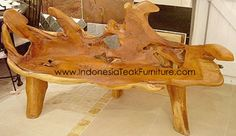 Teak root bench -just bought this for the patio - leaving it unfinished - now I need the perfect furniture to go with...