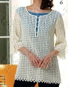 TRI CRO DA TUKA: túnica/crochê