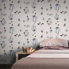 Murmur By Anna Kokki // on Feathr.com // Voting closes 16th May 2016! Pattern Design, Print Patterns, Anna, Wallpaper, Projects, Home Decor, Log Projects, Blue Prints, Decoration Home