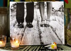 Create a DIY Canvas Print of Your Engagement or Wedding Photographs