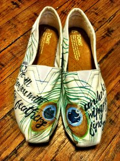 hand-painted peacock TOMS.. He will cover you with his feathers, under his wings you find refuge