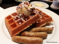 Best restaurants at Disney World for brunch.   Mascarpone Waffles at Kouzzina-these are delicious-- AND DFB Guide to Walt Disney World® Dining 2013 e-Book Review