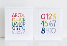 Alphabet Wall Art, Letter Wall Art, Alphabet And Numbers, Alphabet Letters, Toddler Playroom, Playroom Decor, Nursery Art, Printable Wall Art, Art Prints