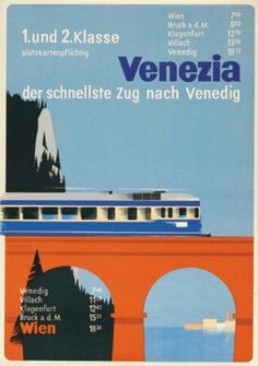 Austrian Railways Vintage Travel Poster Bus Travel, Travel And Tourism, Train Travel, Train Posters, Railway Posters, Klagenfurt, Tourism Poster, Vintage Boats, Train Service