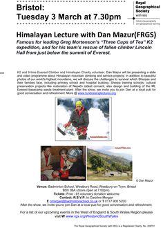 Bristol Sherpa Everest Show: 3 March - 7.30pm: Dan Mazur FRGS
