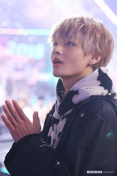 His hands are a work of art as always. And he looks like a kid appreciating something unknown to mankind.