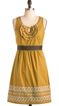 Shulami ModCloth 'Autumn Wheat' dress.