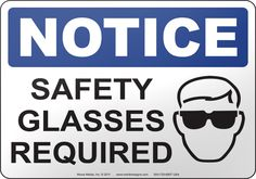 sign safety glasses - Google Search