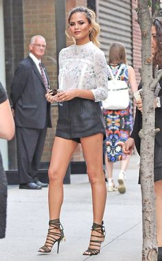Shorts Weather from Chrissy Teigen's Street Style